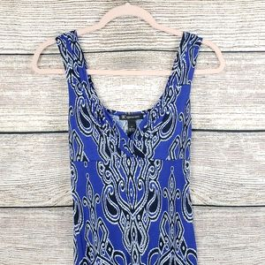 I.N.C | Blue Patterned Maxi Sundress Womens P